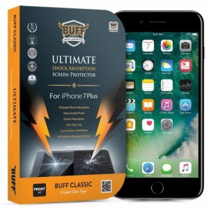 Buff iPhone 7 Plus Darbe Emici Kırılmaz Ekran Koruyucu Film